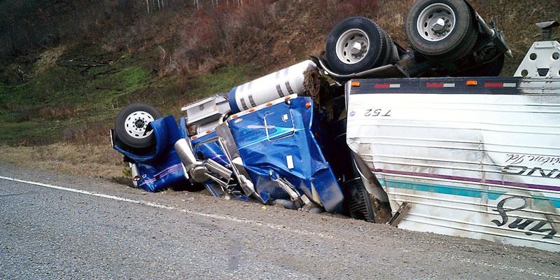 trucks crash
